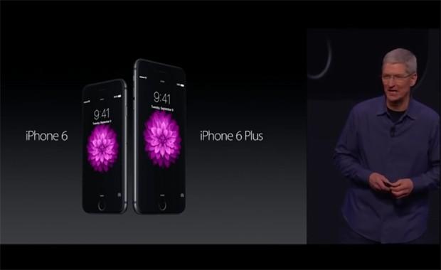 O CEO da Apple, Tim Cook, durante o lançamento do iPhone 6 (Foto: Reprodução / YouTube)