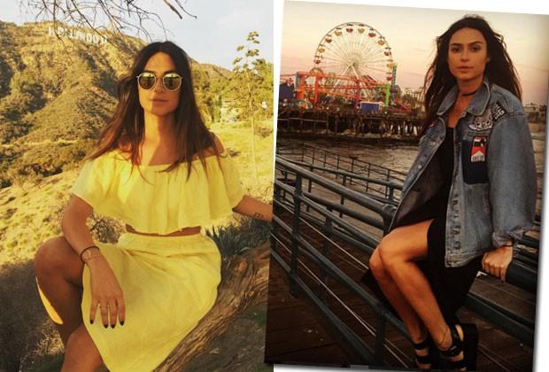 Morando em Los Angeles, a atriz aproveitou para conhecer Hollywood e Santa Mônica (Foto: Reprodução/Instagram)