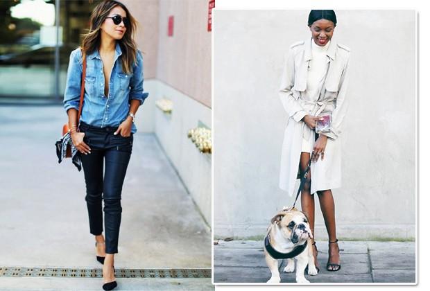 Jeans, couro, scarpin, blazer, trendh coat... Você só precisa de algumas peças-chave (Foto: Reprodução Instagram)