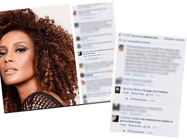 A atriz fez questão de manter o post em sua página para reconhecimento dos perfis (Foto: Reprodução Facebook)