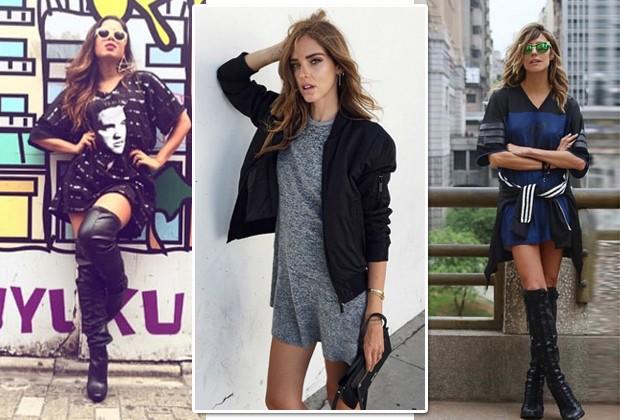 Anitta, Chiara Ferragni e Martha Graeff são fãs do vestido-camiseta (Foto: Reprodução Instagram)