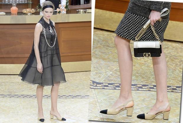 O it shoe da temporada foi desfilado pela Chanel na temporada de inverno 2015-2016 (Foto: Getty Images)