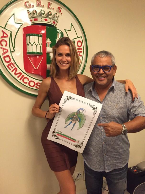 Renata Kuerten e o presidente da Grande Rio Jayder Soares (Foto: Divulgação)