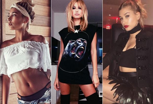 Além de namorar Justin Bieber, Hailey Baldwin vem atraindo olhares do universo fashion (Foto: Reprodução/Instagram)