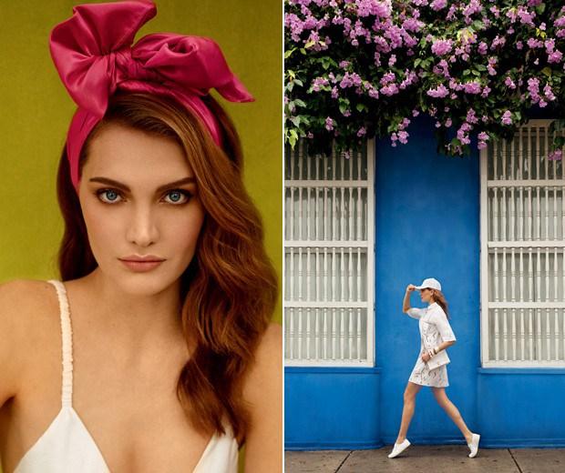 Acessórios de cabeça deixam os looks de verão mais despojados (Foto: Fernando Louza / Edição de moda: Paulo Martinez (SD MGMT))