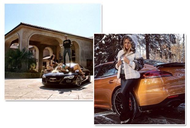 Carros de luxo são itens básicos na vida dos jovens russos bilionários (Foto: Reprodução Instagram)