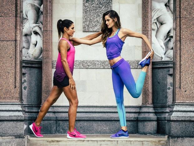 A triatleta Fernanda Keller e a angel Izabel Goulart (Foto: Divulgação)