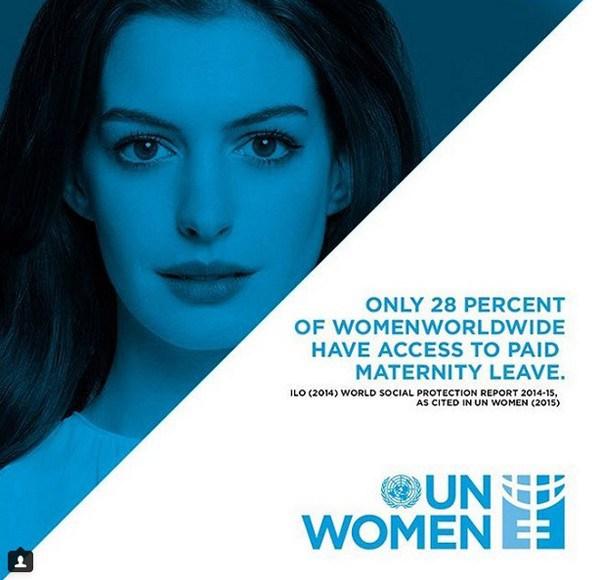 Anne Hathaway anuncia ser nova embaixadora da boa vontade da ONU Mulheres (Foto: Reprodução / Instagram)