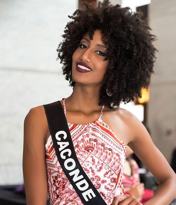 Miss São Paulo usou o cabelo natural durante o concurso (Foto: Divulgação)