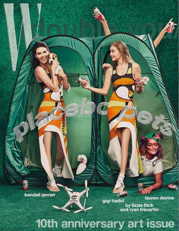Kendall Jenner e Gigi Hadid na capa da revista W (Foto: Divulgação)