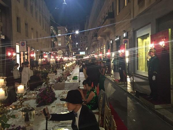 O jantar da DolceGabbanna (Foto: Marie Claire)