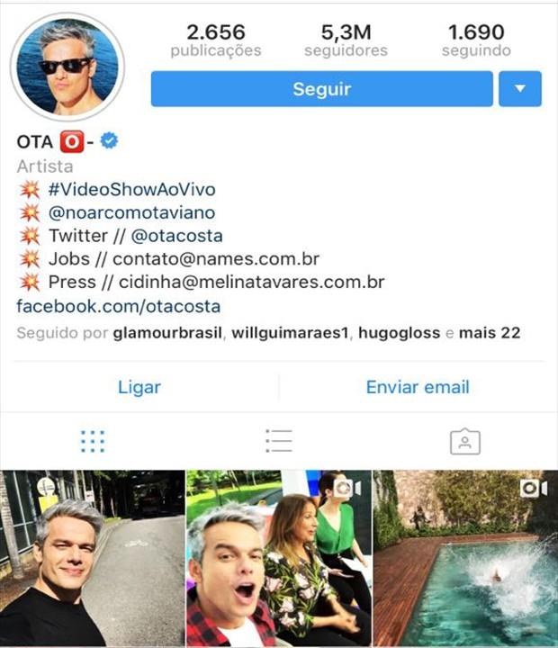 Otaviano Costa (Foto: Reprodução/Instagram)