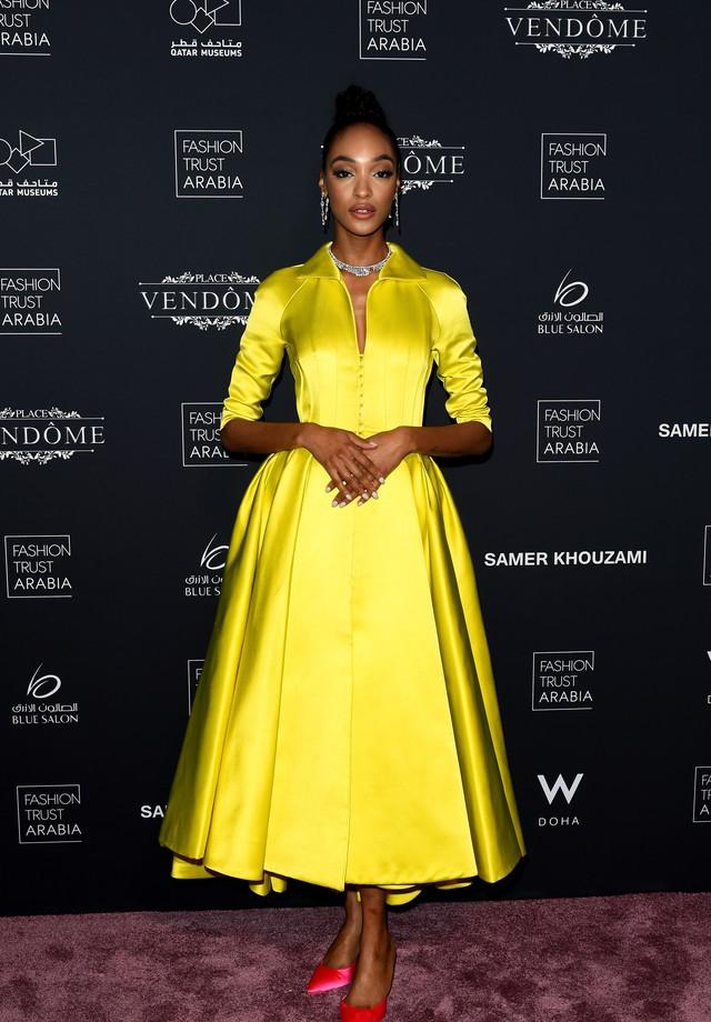 Jourdan Dunn no Prêmio Fashion Trust Arabia (Foto: Getty Images)