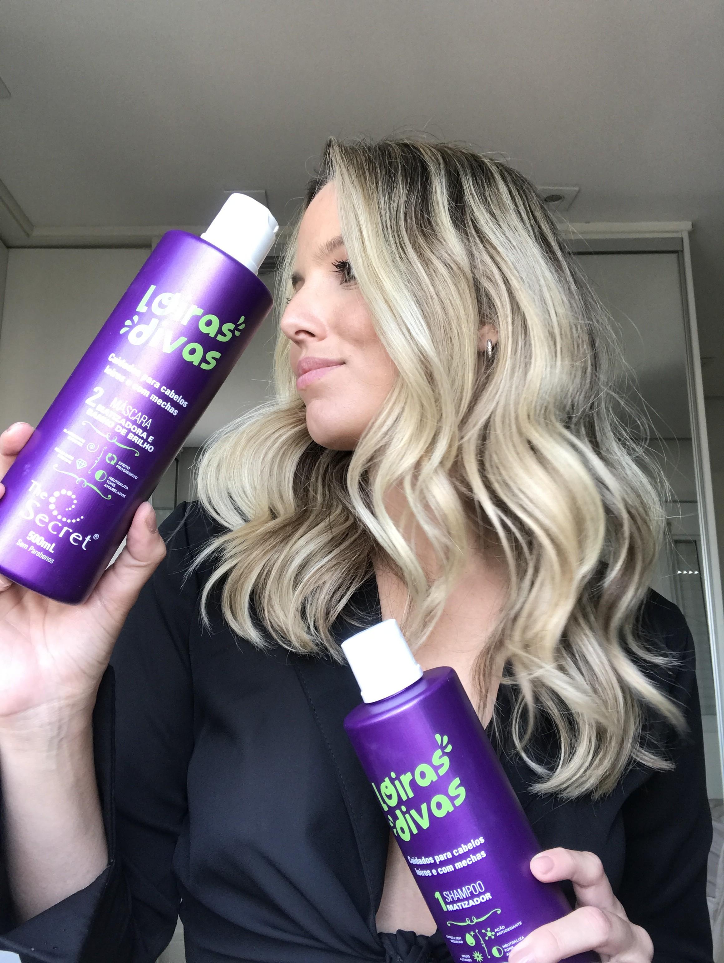 Shampoo e Condicionador Loiras Divas, The Secret (Foto: Acervo Pessoal)