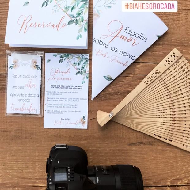 Leque para o casamento de Sorocaba (Foto: Reprodução Instagram)