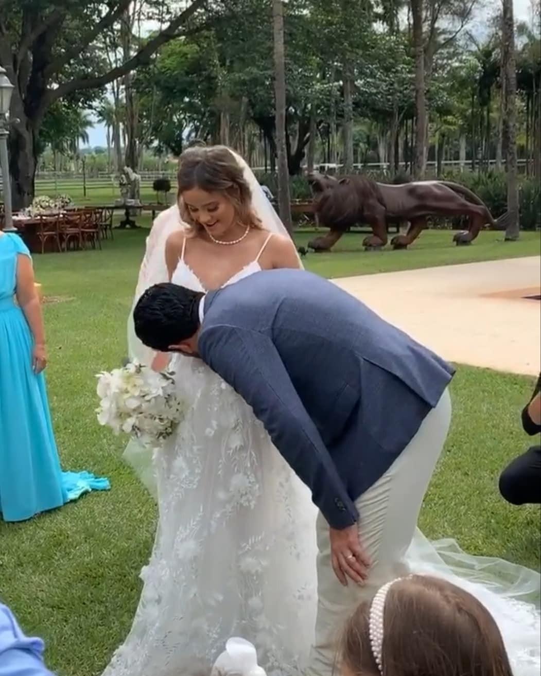 Bianca Rodrigues no casamento com Sorocaba (Foto: Reprodução Instagram)