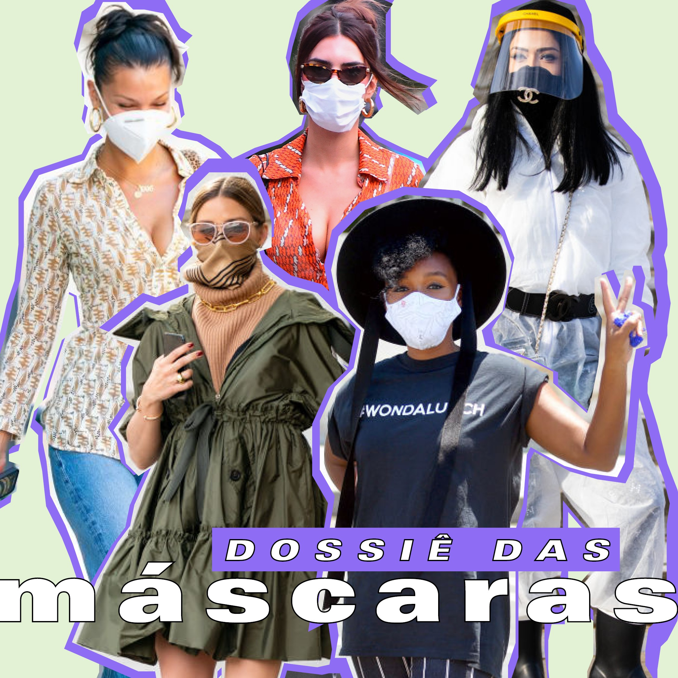 Máscaras - como usar? (Foto: Arte: Victoria Polak)
